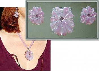 "Jewelry set ""The dream"" glass fusing. Repina Elena"