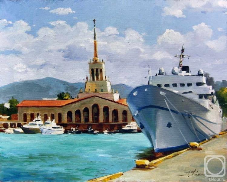 Открытка сочи морской порт, картинки