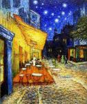 Желнов Николай. Ночная терраса кафе. Свободная копия картины Ван Гога