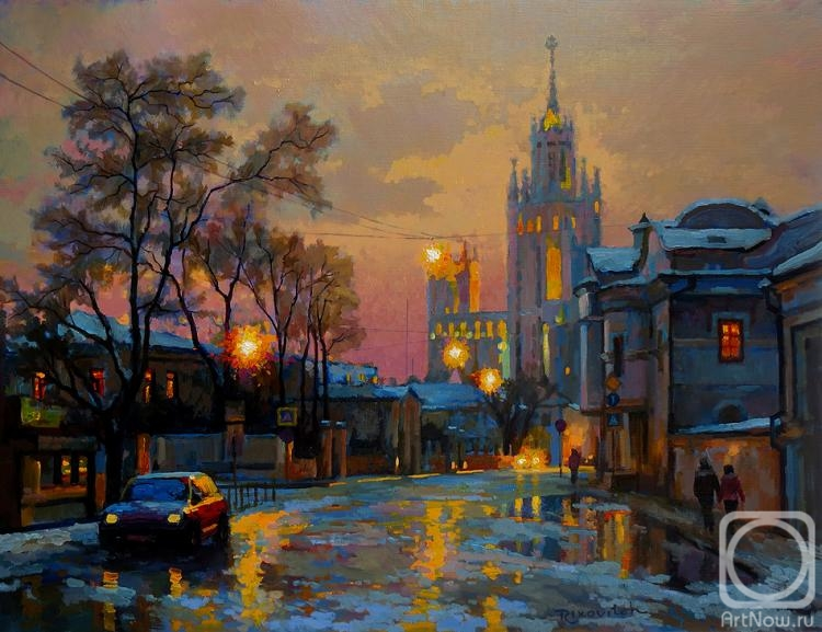 Volkov Sergey. Moscow. Winter twilight on Potter's str