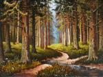 "Картина ""В лесу"". Вукович Душан"