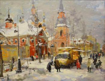Andrew Boulevard on a winter day. Shevchuk Svetlana