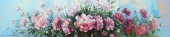 Peonies in the country. Grokhotova Svetlana