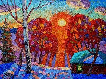 Berdyshev Igor. The sun sets