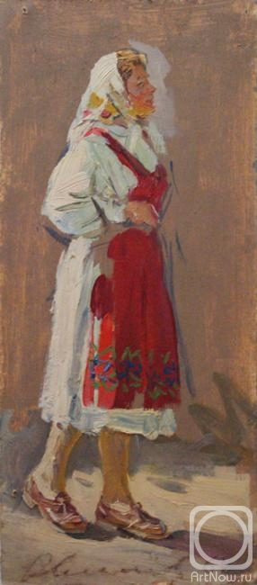 Овчинников Николай. Женщина в красном переднике
