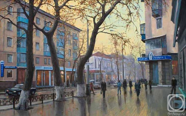Painting Krasnodar Street Red Buy On Artnow Ru