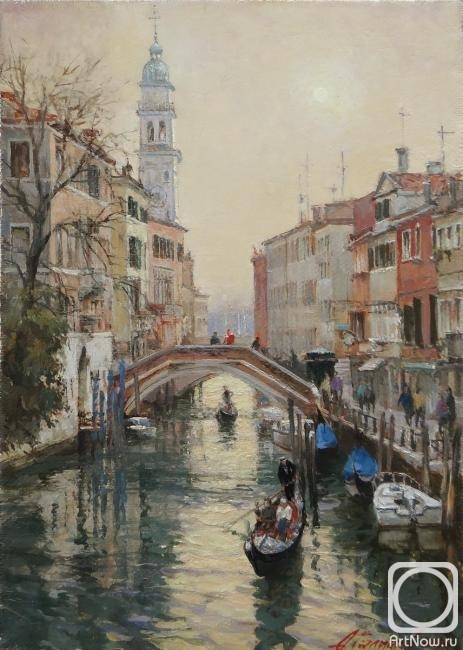 Galimov Azat. Venice in winter. Evening on the rio di S.Lorenzo