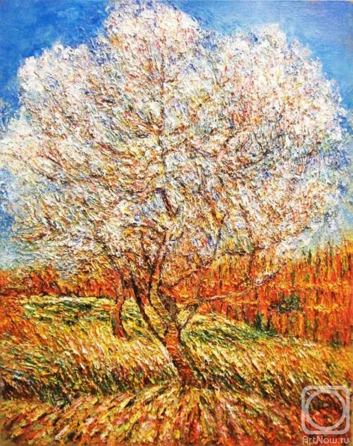 Ван гог персиковое дерево в цвету