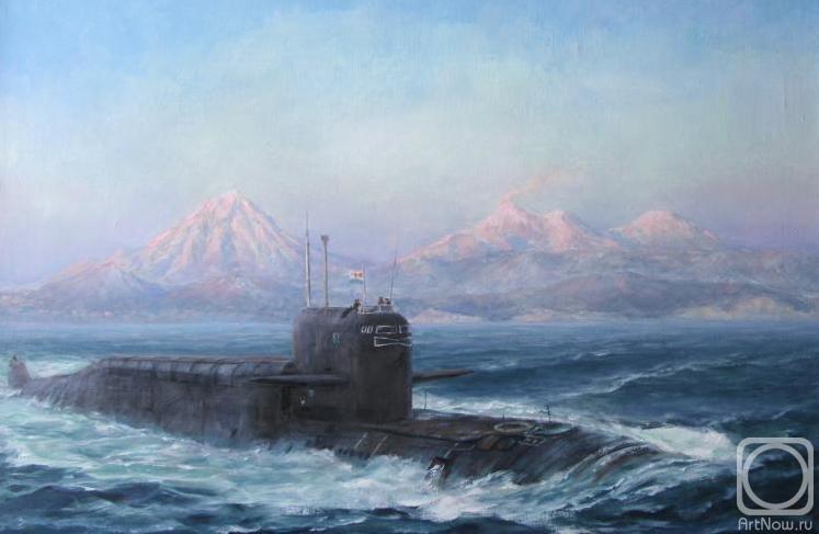 подводная лодка уходит в поход