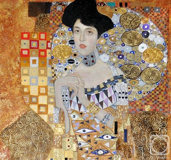 Zhukoff Fedor. Portrait of Adele Bloch-Bauer I (based on the painting of Klimt). Fragment