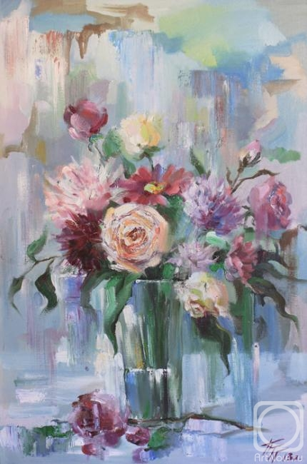 Pushina Tatyana. The bouquet in cold colours