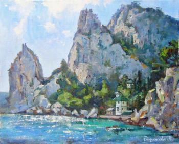 Biryukova Lyudmila. Rock Swan wing at the foot of the mountain Cat. Simeiz