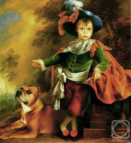 мальчика с собакой (по