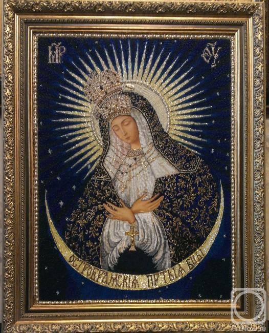 Остробрамская икона божьей матери вышивка