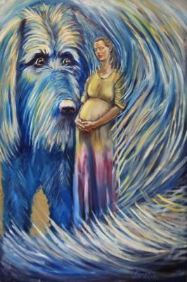 Rakhmatulin Roman. Belief and Blue Dog (Vera and Blue Dog)