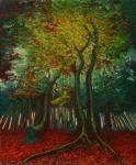 Осеннее лучистое дерево