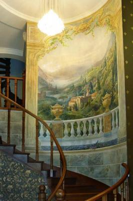 Mural over stairs