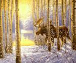 В зимнем лесу. Минаев Сергей