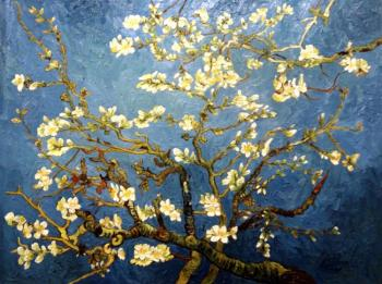 Flowering almond branch (copy of Van Gogh). Bruno Augusto