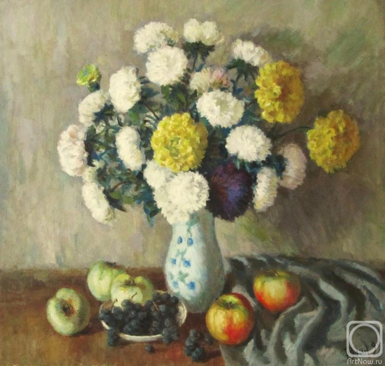 Rudin Petr. Still life with chrysanthemums