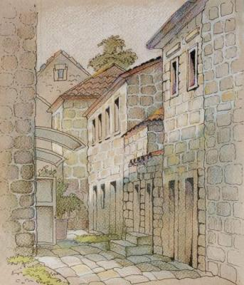 Naletova Olga. The Street in Old Perast