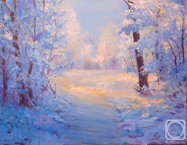Painting, 14x18 in 2008 по Julia Utiasheva - Картина.  Winter path.