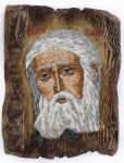 Преподобный Серафим Саровский, чудотворец, икона (мозаика)
