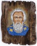 Преподобный Сергий Радонежский, игумен, икона (мозаика)