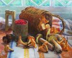 Корзинка с грибами. Шумакова Елена