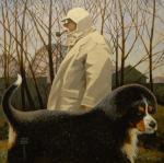 Андрианов Андрей. Прогулка со щенком зенненхунда