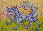 Rakhmatulin Roman. Blue Dog bear apples
