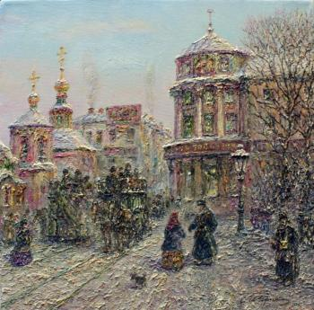 Teterin Sergey. Cold day in the old Moscow