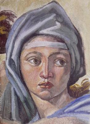 Fresco by Michelangelo. Silaeva Nina