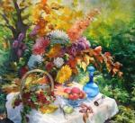 Vedeshina Zinaida. Autumn in the garden