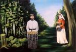 Копия Пиросмани ,Сбор винограда. Мысова Ирина