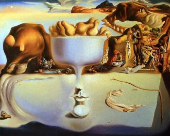 Mescheriakov Pavel. Apparation of face and fruit dish on a beach (S.Dali)