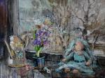 Чарина Анна. Февральское окно с гиацинтом