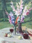 Rubinsky Pavel. Still life with gladioluses