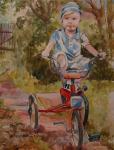 Будрина Анна. На велосипеде.... на даче.
