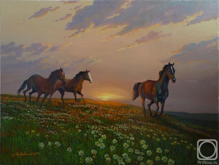 Картины лошади бегущие