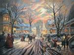 Копия картины Томаса Кинкейда: Гимн Викторианского Рождства