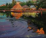 Chizhova Viktoria. Warm twilight on Pure ponds