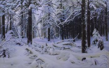 A Winter forest. A Copy from the art work of I.Shishkin. Seregin Sergey