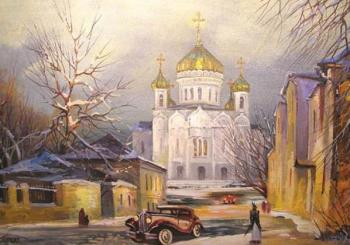 Moscow, Cathedral of Christ the Saviour (Street Znamenka, retro-walk). Gerasimov Vladimir
