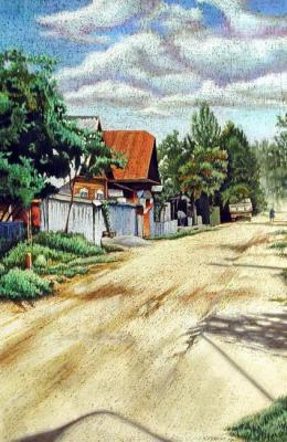 Street in the village. Semenyuk Evgeny