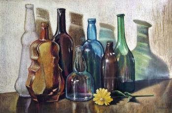 Still life. Colored glass. Semenyuk Evgeny
