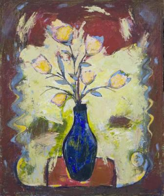 Barsukov Denis. The flowers in a Blue Vase